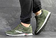 Мужские кроссовки Reebok Classic Leather MU зеленые р.43 Акция -51%!
