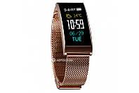 Фитнес-браслет  Smart Band X3 Gold Steel Акция -16%!