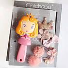 Набор детских аксессуаров заколки и расческа для девочек младшего возраста Принцесса, фото 2