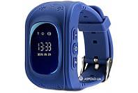 Детские смарт часы Smart baby watch Smartix Q50 dark-blue  Акция -39%!