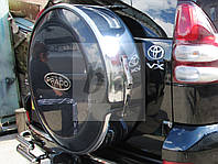 Чехол запасного колеса (колпак запаски) хром Toyota land cruiser 120 Prado(тойота ленд крузер прадо 2002-2009)