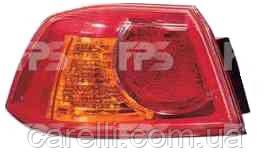 Фонарь задний для Mitsubishi Lancer X '07- левый (FPS) внешний, красный