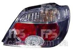 Фонарь задний для Mitsubishi Outlander '05-07 левый (DEPO) красно-белый, прозрачны (темн. корпус)