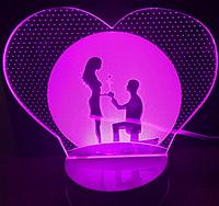 Светильник 3D 1109 (Романтика)
