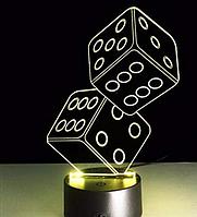 Светильник 3D  1090(Кости)