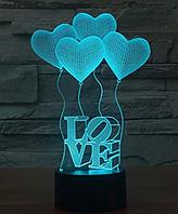 Светильник 3D  1106 (Love)