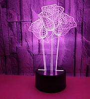 Светильник 3D  1097( 3 Розы)