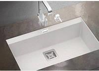 Прямоугольная гранитная мойка AquaSanita  Delicia SQD-101 AW, монтаж под или в столешницу
