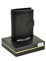 Мужской кожаный кошелек BRETTON 10,5 х 14 см Черный (m5406/1)