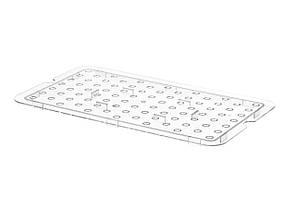 Решетка для гастроемкости из поликарбоната GN 1/1