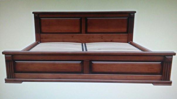 """Кровать двуспальная """"Прайм"""" 2 Орех деревянная"""