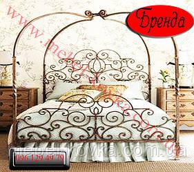 """Кровать кованая c балдахином """"Бренда"""""""