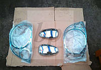 Хром пакет: комплект хром накладок (зеркала, стопы) Daewoo matiz (део/деу матиз) (хэтчбек) 1997-2005