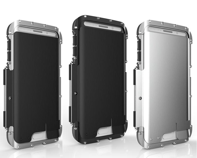 """SAMSUNG S6 EDGE G925 оригинальный противоударный цельнометаллический алюминиевый чехол бампер  """"ARMOR KING"""""""
