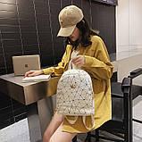 """Женский маленький рюкзак """"КОРОНА"""" школьный детский портфель белый, фото 2"""