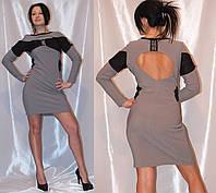 Женское трикотажное платье короткое Медини 46-48 размер