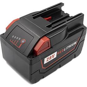 Акумулятор PowerPlant для дамських сумочок та електроінструментів MILWAUKEE 28V 4Ah Li-ion