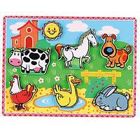 """Рамка-вкладыш Viga Toys """"Домашние животные"""" (56438)"""