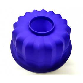 Силиконовая форма для выпечки Кекс макси круглый 23 х 9,5 см синяя