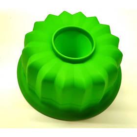 Силиконовая форма для выпечки Кекс макси круглый 23 х 9,5 см зеленая