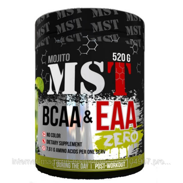MST Sport Nutrition, Бцаа BCAA EAA Zero, 520 грамм