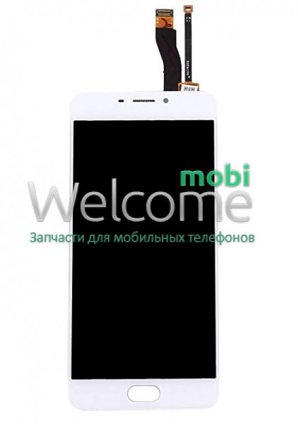 Модуль Meizu M5 Note (M621) white, дисплей экран, сенсор тач скрин мейзу