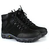 Зимние черные ботинки из нубука на овчине мужская обувь большой размер Rosso Avangard Pro Lomerflex Black Nub