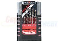 Набор спиральных сверл по металлу Makita HSS-Co 1-10 мм (19 шт.) (D-50463)