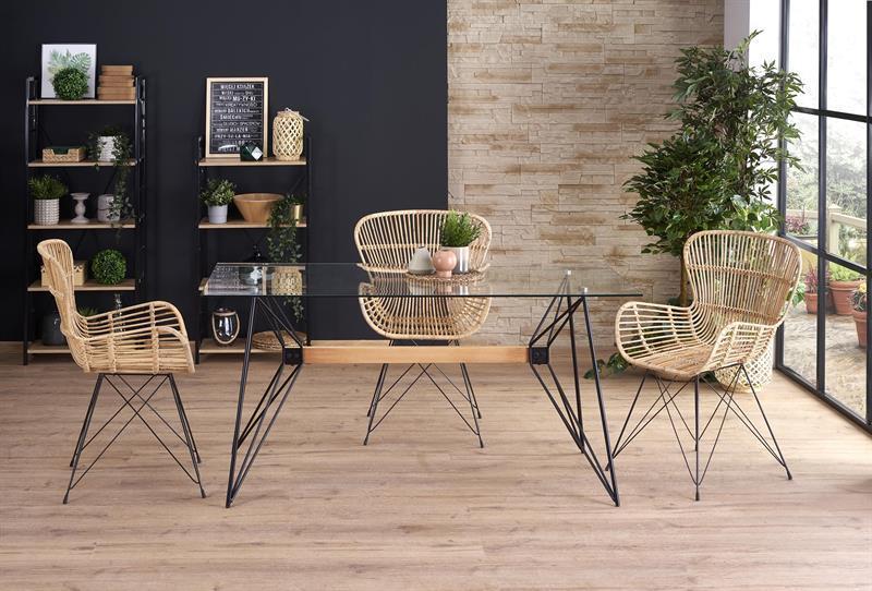 Стеклянный  обеденный стол Allegro 160*80  (Halmar)