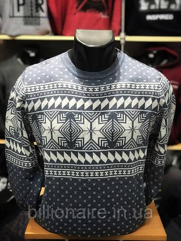 Чоловічий новорічний светр з сніжинками, фото 2