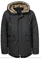 Куртка glo story мужская черная зима