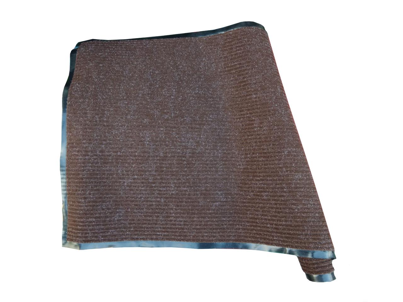 """Входной коврик """"Ребро"""" 80х120 (коричневый) Floor Mats Line"""