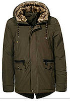 Куртка glo story мужская хаки зима
