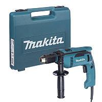 Дрель ударная Makita , 680Вт, 13мм, 0 - 2.800 мин-1, 2.0кг (HP1641K)