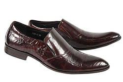 Стильные мужские классические кожаные туфли LOUIS ALBERTI 1020-10  39  коричневый