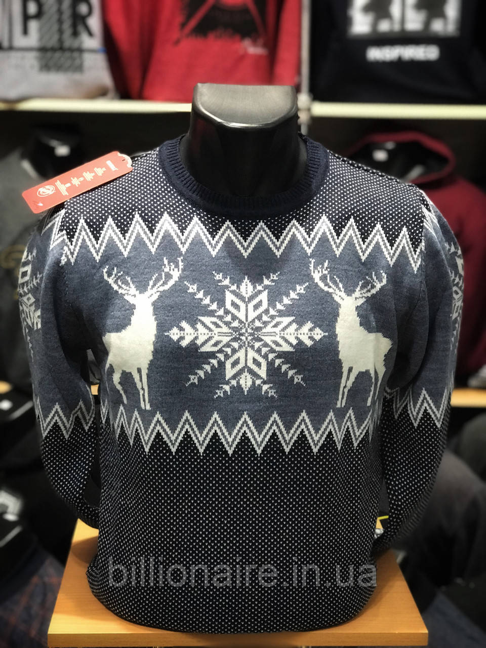 Чоловічий новорічний светр з оленями