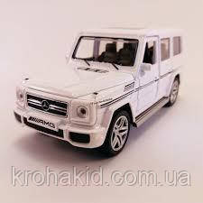 "Машина метал 3201G ""АВТОПРОМ""1:24 Mercedes G65AMG Class белый"
