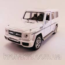 "Машина метал 3201G ""АВТОПРОМ""1:24 Mercedes G65AMG Class белый, фото 2"
