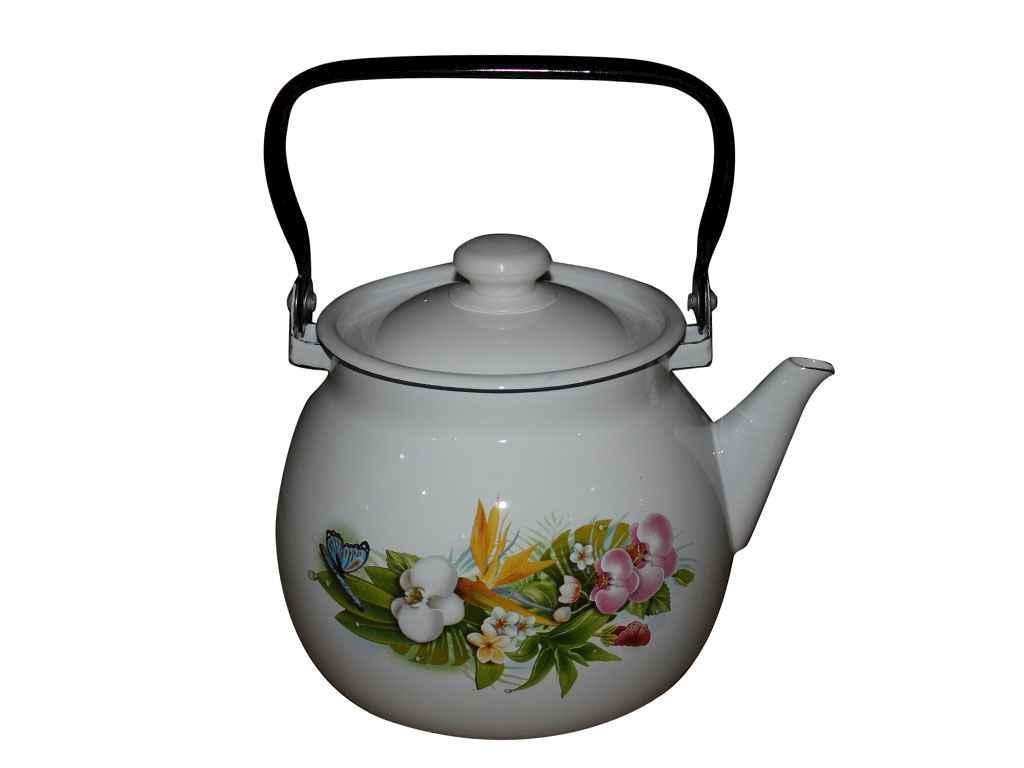 """Чайник без свистка эмалированный 3,5 литра Разные рисунки (I27130/2) """"IDILIA"""""""