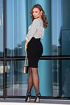 Женская вязаная юбка миди Размер oversize 44-48, фото 3