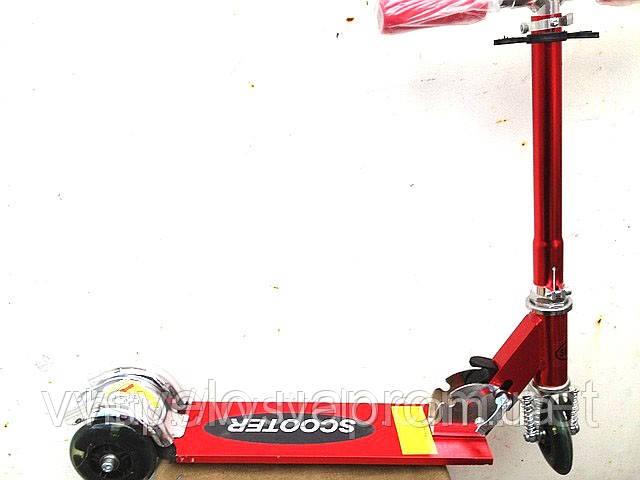 Самокат трехколесный Scooter синий ,красный 'стальной ,бронзовый
