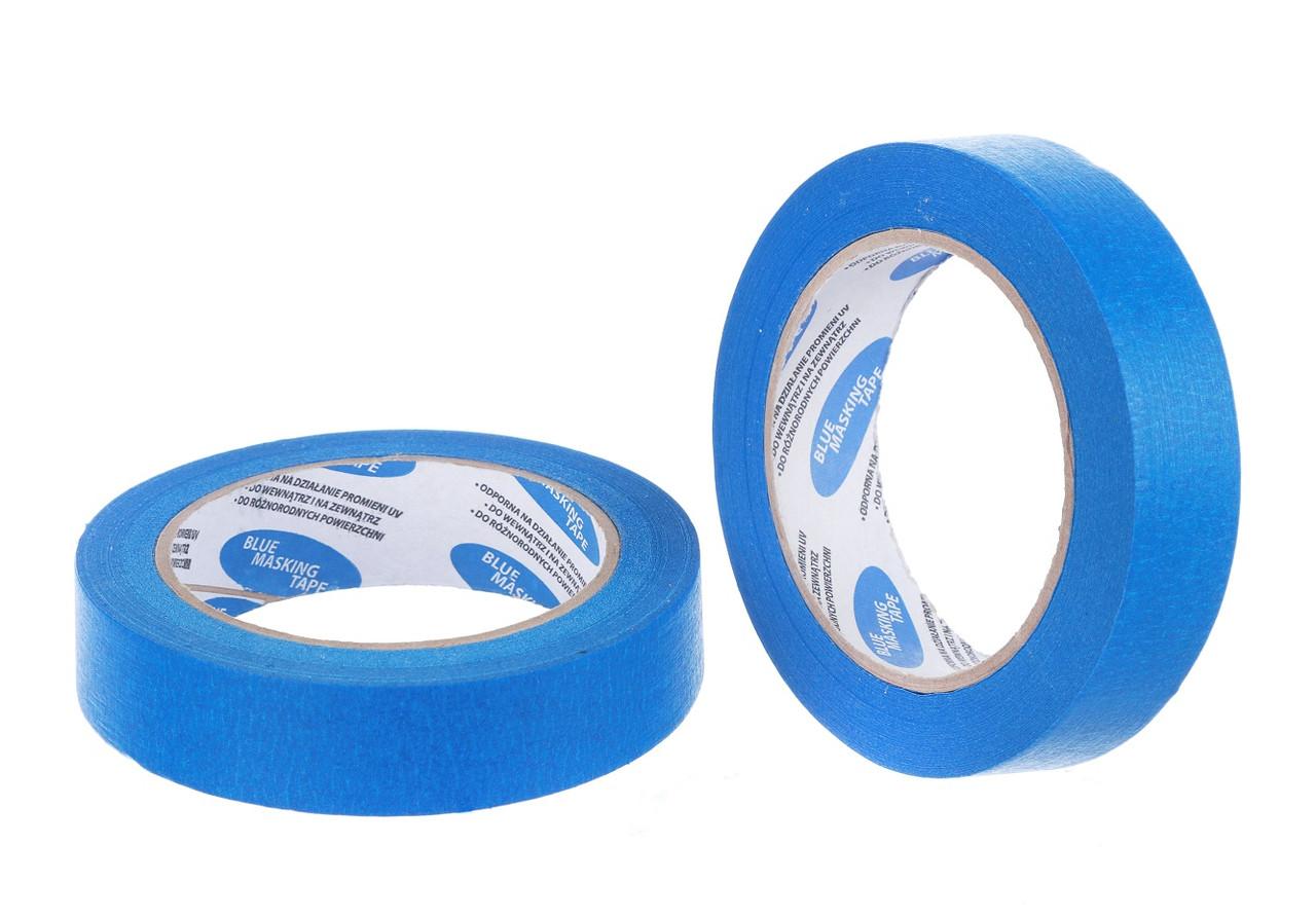 Маскировочный скотч голубой 25 мм/50 м