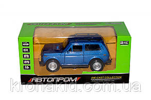 Машина металл АВТОПРОМ (7812) НИВА,синий, фото 2