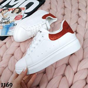 Женские кроссовки белые эко кожа 1169 37