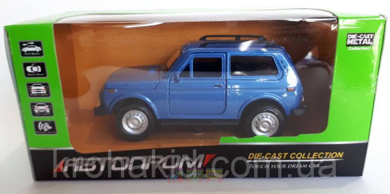 Машина металл АВТОПРОМ (7812) НИВА,синий