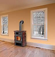 Кафельная печь на дровах BORGHOLM TOP - Коричневая , ( каминофен, изразцовая печь )., фото 1