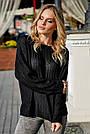 Женский чёрный свитер, р.42-50, вязка, фото 2