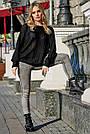 Женский чёрный свитер, р.42-50, вязка, фото 3