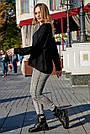Женский чёрный свитер, р.42-50, вязка, фото 4
