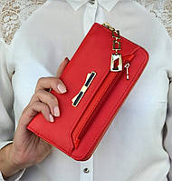 Женский кошелек, клатч с бантом
